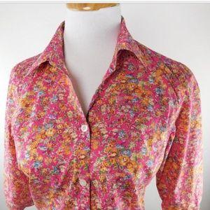34e2fe22470bde Saks Fifth Avenue Tops - Saks Fifth Avenue Liberty Fabrics Floral Blouse